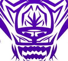 Fierce Tribal Bear T-Shirt Design (Purple) Sticker