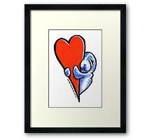 Love Manatees Framed Print
