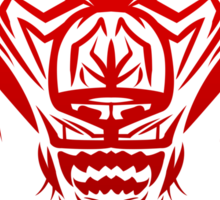 Fierce Tribal Bear T-Shirt Design (RED) Sticker