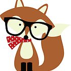 Holiday Hipster Fox by heartlocked