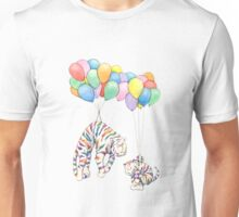 Rainbow Tigers and Balloons Unisex T-Shirt