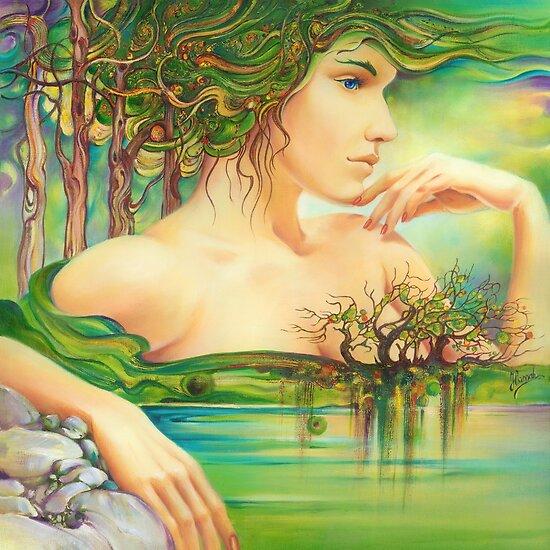 The Emerald Lake by Anna Ewa Miarczynska