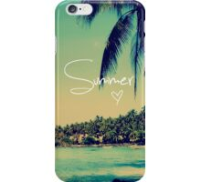 Summer Love Vintage Beach Photography iPhone Case/Skin