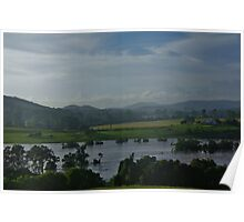 Valley View in flood Poster