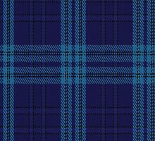 00489 Indigo Blue Tartan Fabric Print Iphone Case by Detnecs2013