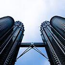 Twin towers by B. Glazier