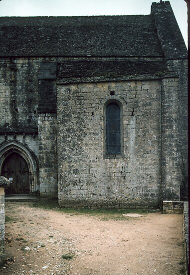 Side door to chapel Chateau de Beynac 198402270008 by Fred Mitchell