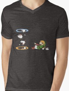 Zelda and Portals Mens V-Neck T-Shirt