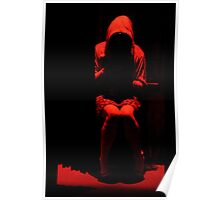 Red Hooded Girl Poster