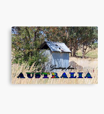 GREETINGS FROM AUSTRALIA Canvas Print