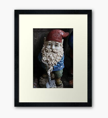 """""""Digger"""" The Gnome Framed Print"""