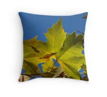 Green Leaves. Throw Pillow