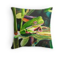 Wee Tree Frog Throw Pillow