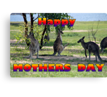 Happy Mothers Day Canvas Print