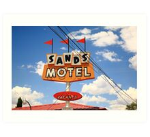 Route 66 - Sands Motel Art Print