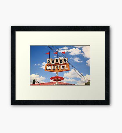 Route 66 - Sands Motel Framed Print
