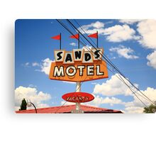 Route 66 - Sands Motel Canvas Print