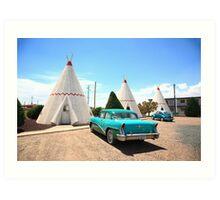 Route 66 Wigwam Motel Art Print