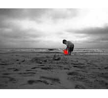 Joy in an Orange Bucket Photographic Print