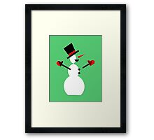 Snow Man in Holiday Framed Print