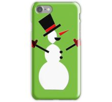 Snow Man in Holiday iPhone Case/Skin