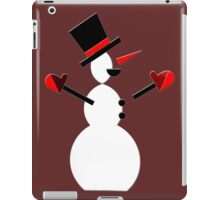 Snow Man in Holiday iPad Case/Skin