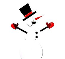 Snow Man in Holiday by roccoyou