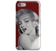 Marilyn Monroe Deep Red iPhone Case/Skin