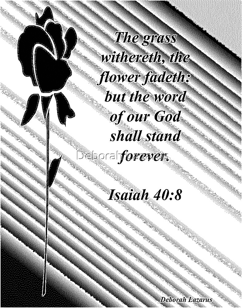 Isaiah 40:8 greeting card by Deborah Lazarus