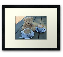 How Much Coffee Can I Bear? Framed Print