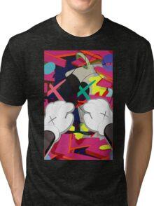 Kaws Paws Tri-blend T-Shirt