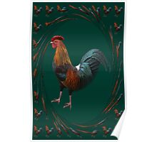 ☝ ☞ COLOURFUL ROOSTER MY MORNING ALARM LOL☝ ☞ Poster