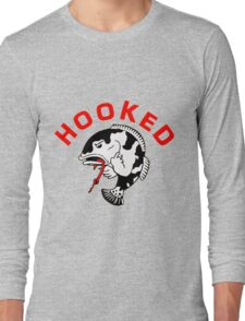 FISHING - ANGRY FISH HOOKED Long Sleeve T-Shirt