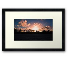 Sunset over Cayo Coco Framed Print