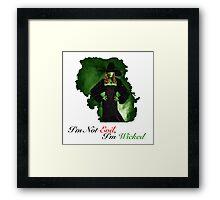 Zelena Framed Print