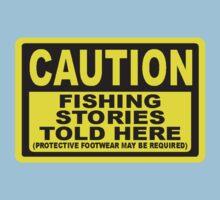 CAUTION FISHING T SHIRT Kids Clothes