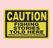 CAUTION FISHING T SHIRT One Piece - Short Sleeve