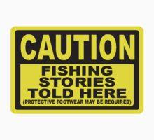CAUTION FISHING T SHIRT by JAYSA2UK