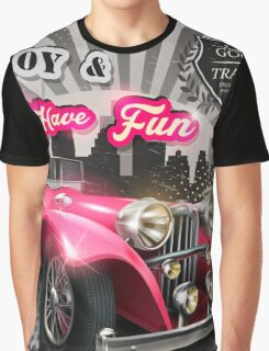Retro car poster Graphic T-Shirt