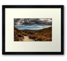 Mount Taranaki out in the Blue Framed Print
