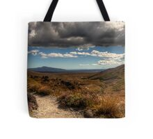 Mount Taranaki out in the Blue Tote Bag