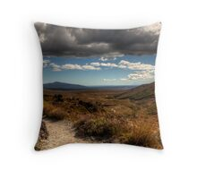 Mount Taranaki out in the Blue Throw Pillow
