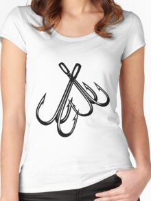 FISHING - HOOKS Women's Fitted Scoop T-Shirt