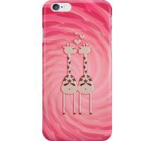 Pink Giraffe Lovers VRS2 iPhone Case/Skin