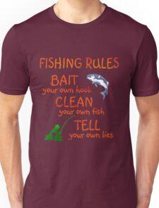 FISHING - RULES Unisex T-Shirt