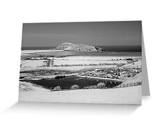 Brean Down viewed from Uphill near Weston-super-Mare Greeting Card
