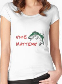 SIZE MATTERS FISHING T Women's Fitted Scoop T-Shirt