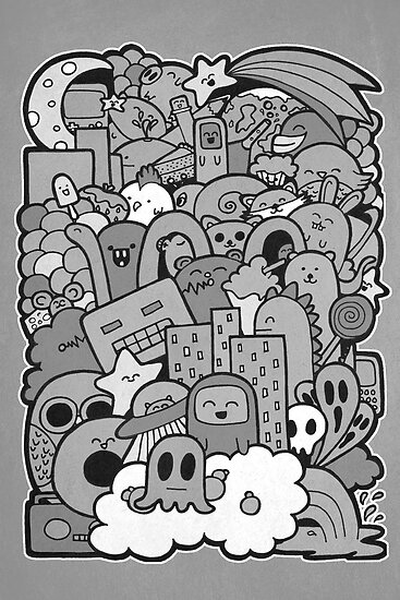 Doodleicious - Black and White by perdita00