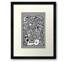 Doodleicious - Black and White Framed Print