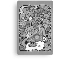 Doodleicious - Black and White Canvas Print
